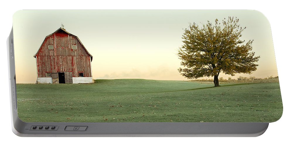 Barn Portable Battery Charger featuring the photograph A Wisconsin Postcard by Todd Klassy