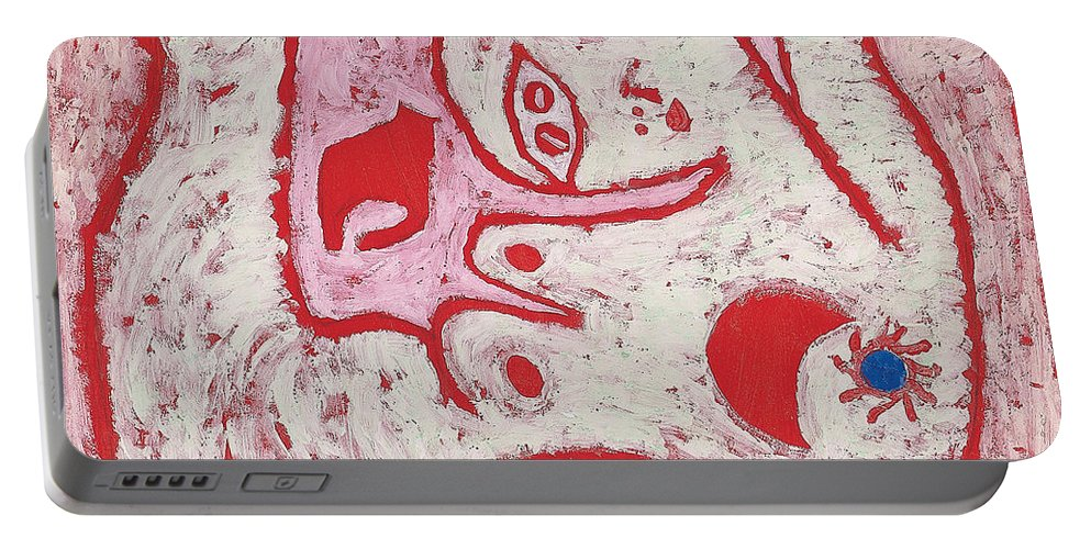 Paul Klee Portable Battery Charger featuring the painting A Woman For Gods by Paul Klee