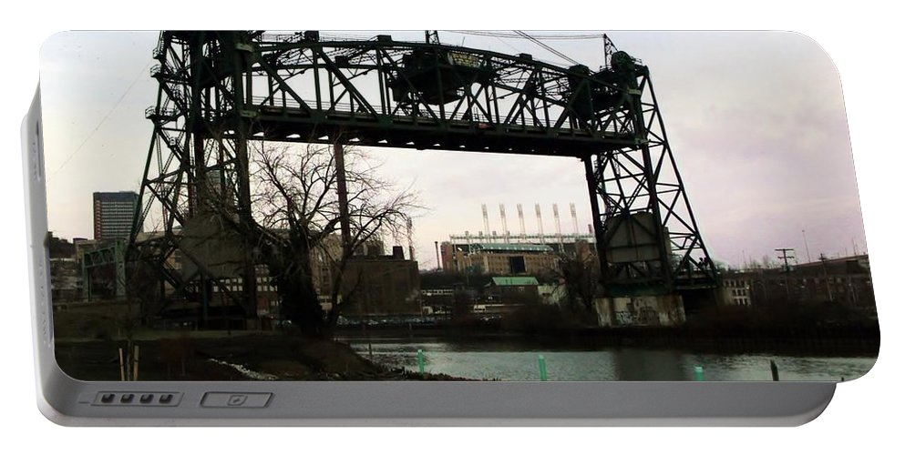 Bridge Portable Battery Charger featuring the photograph Abandoned Eagle Ave Bridge by Wendy Gertz