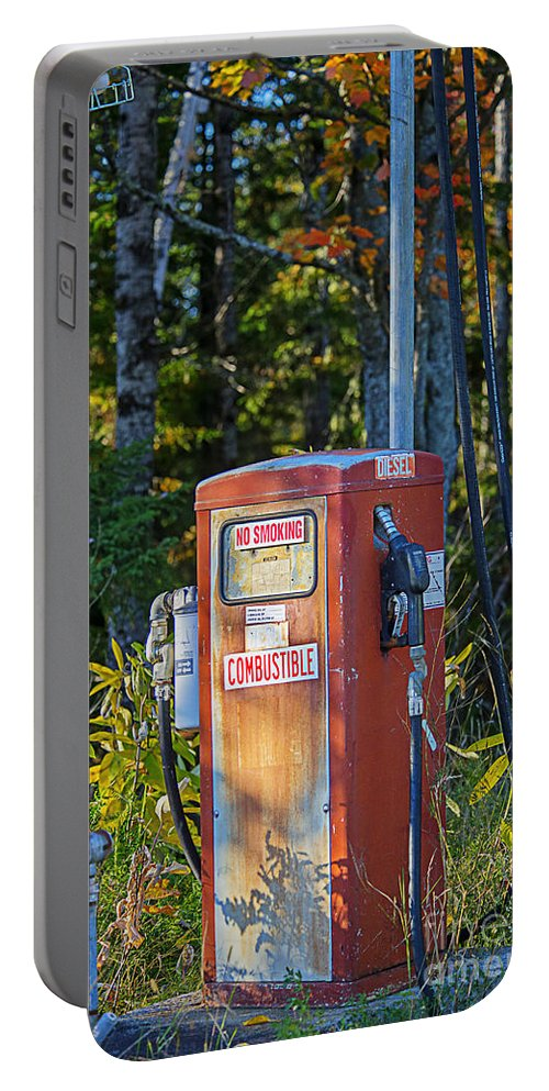 Gas Pump Portable Battery Charger featuring the photograph Abandoned Gas Pump by Alana Ranney