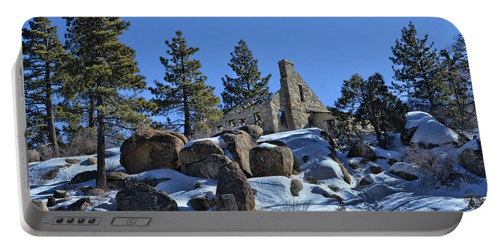 Big Bear Mountain Portable Battery Charger featuring the photograph Abandoned On The Mountain by Tommy Anderson