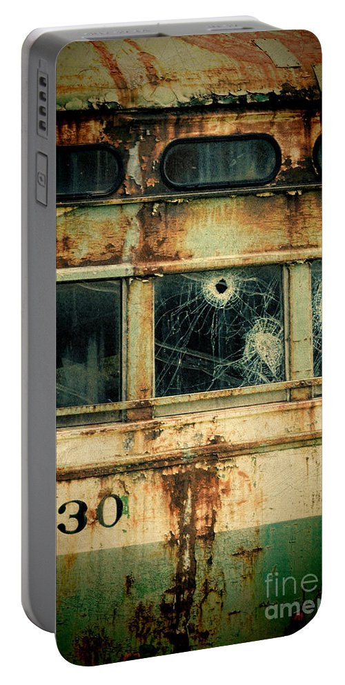 Broken Portable Battery Charger featuring the photograph Abandoned Train Car by Jill Battaglia