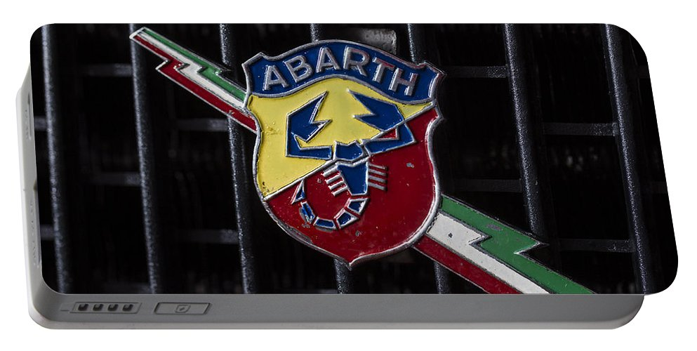 Fiat Portable Battery Charger featuring the photograph Abarth Emblem by Jose Bispo