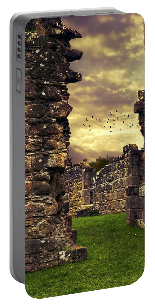 Abbey Portable Battery Charger featuring the photograph Abbey Ruins by Amanda Elwell