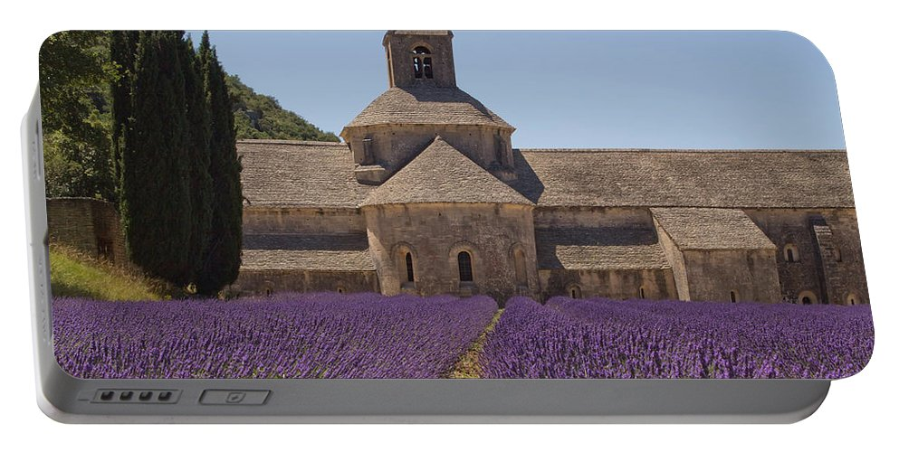 Vaucluse Portable Battery Charger featuring the photograph Abbey Senanque by Jaroslav Frank
