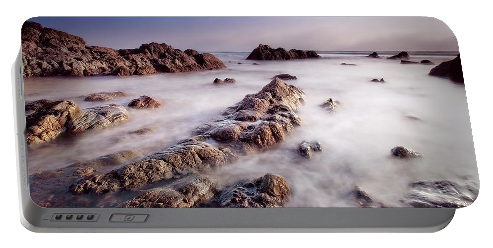 Beach Portable Battery Charger featuring the photograph Aberffraw Fog by Beverly Cash