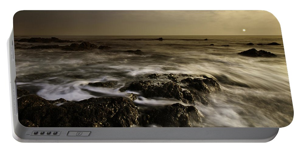 Coast Portable Battery Charger featuring the photograph Aberffraw Sunset by Beverly Cash