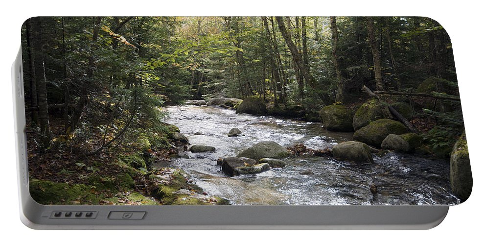 River Portable Battery Charger featuring the photograph Abol Falls 4368 by Terri Winkler