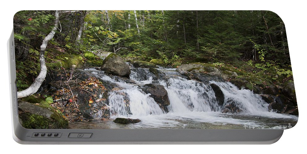 Baxter State Park Portable Battery Charger featuring the photograph Abol Falls 4392 by Terri Winkler