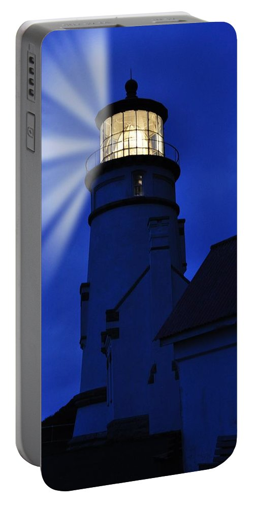 Heceta Portable Battery Charger featuring the photograph Above The Ocean by Image Takers Photography LLC - Laura Morgan