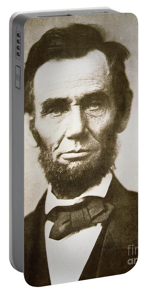 Abraham Portable Battery Charger featuring the photograph Abraham Lincoln by Alexander Gardner
