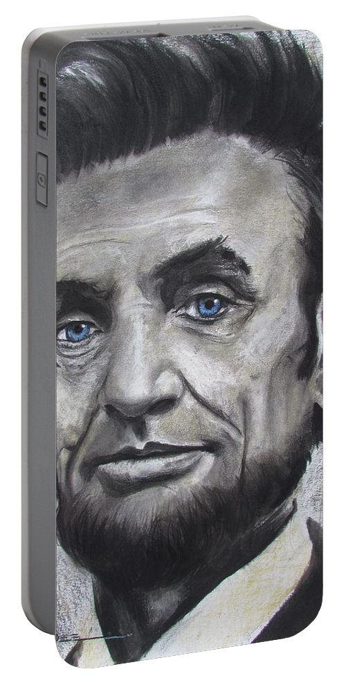 Abraham Lincoln Portable Battery Charger featuring the drawing Abraham Lincoln by Eric Dee