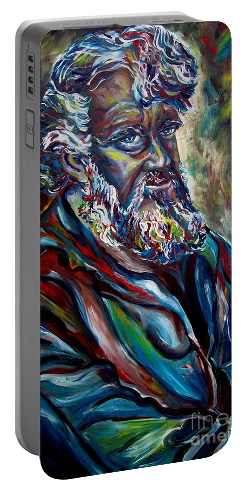 Abraham Patriarh Portable Battery Charger featuring the painting Abraham Patriarch by Carole Spandau