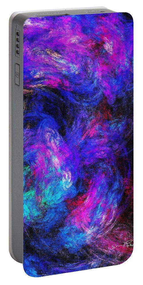 Fine Art Portable Battery Charger featuring the digital art Abstract 021314 by David Lane