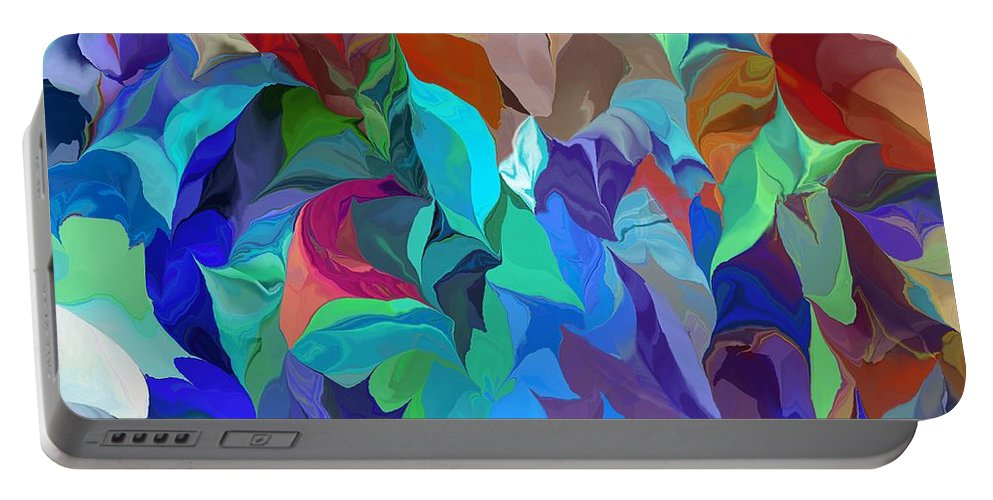 Abstract Portable Battery Charger featuring the digital art Abstract 062713 by David Lane