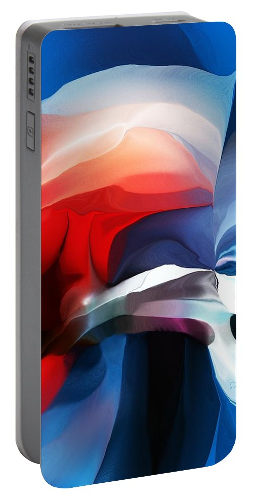 Abstract Portable Battery Charger featuring the digital art Abstract 071713 by David Lane