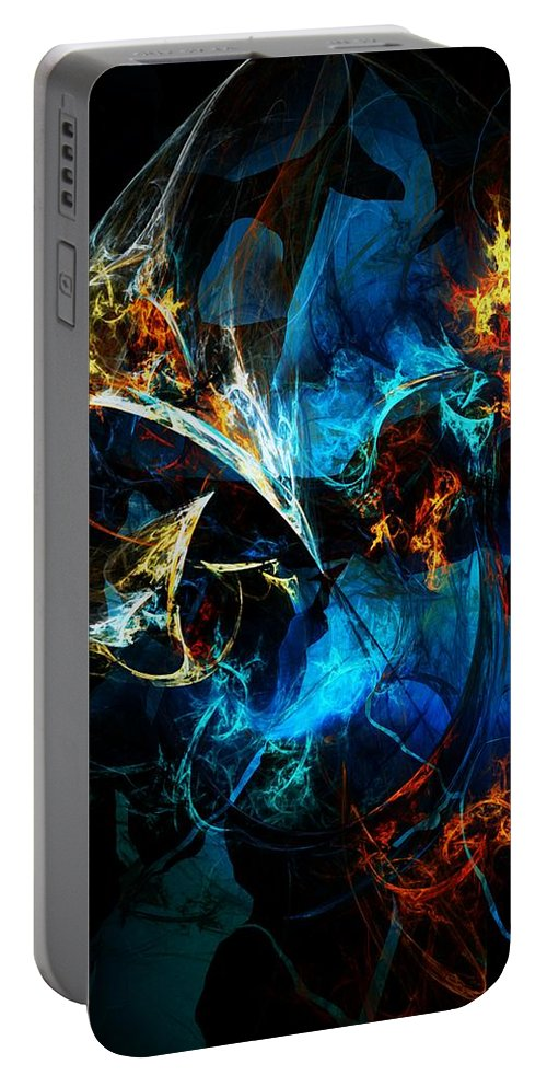 Abstract Portable Battery Charger featuring the digital art Abstract 080613 by David Lane