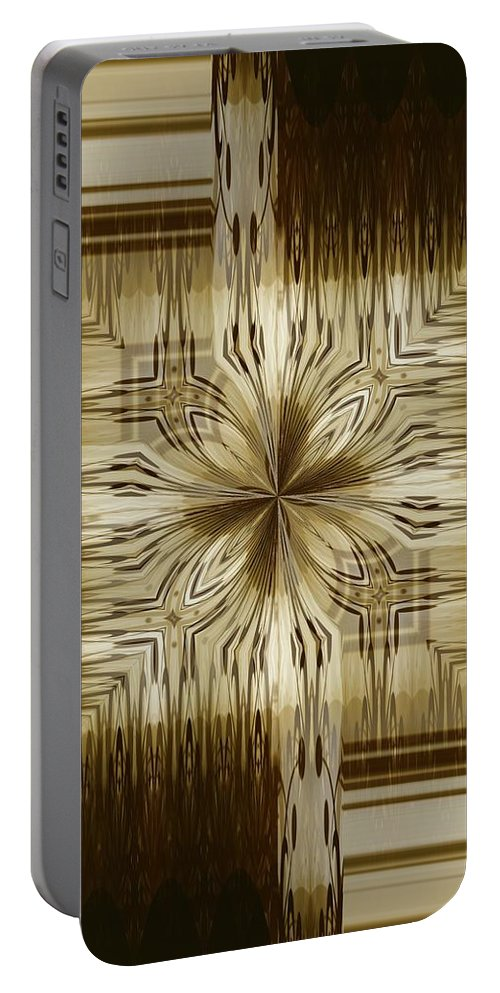 Abstract 15-02 Portable Battery Charger featuring the digital art Abstract 15-02 by Maria Urso