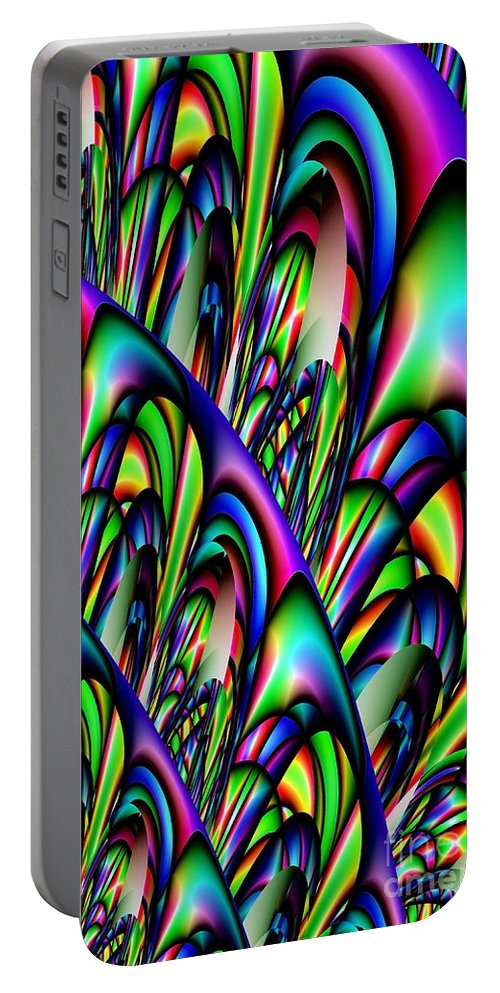 Abstract 155 Portable Battery Charger featuring the digital art Abstract 155 by Maria Urso