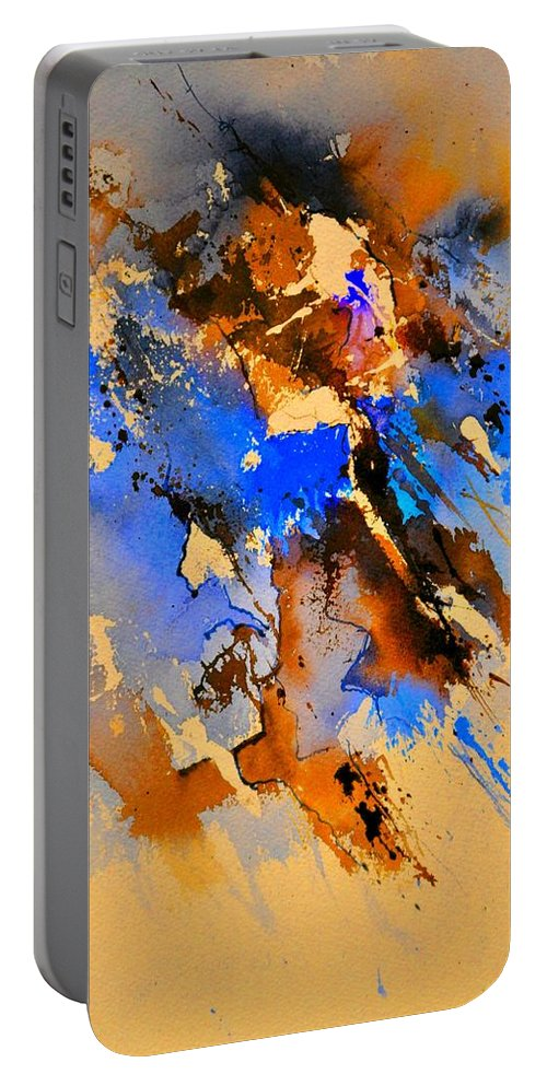 Abstract Portable Battery Charger featuring the painting Abstract 4110212 by Pol Ledent