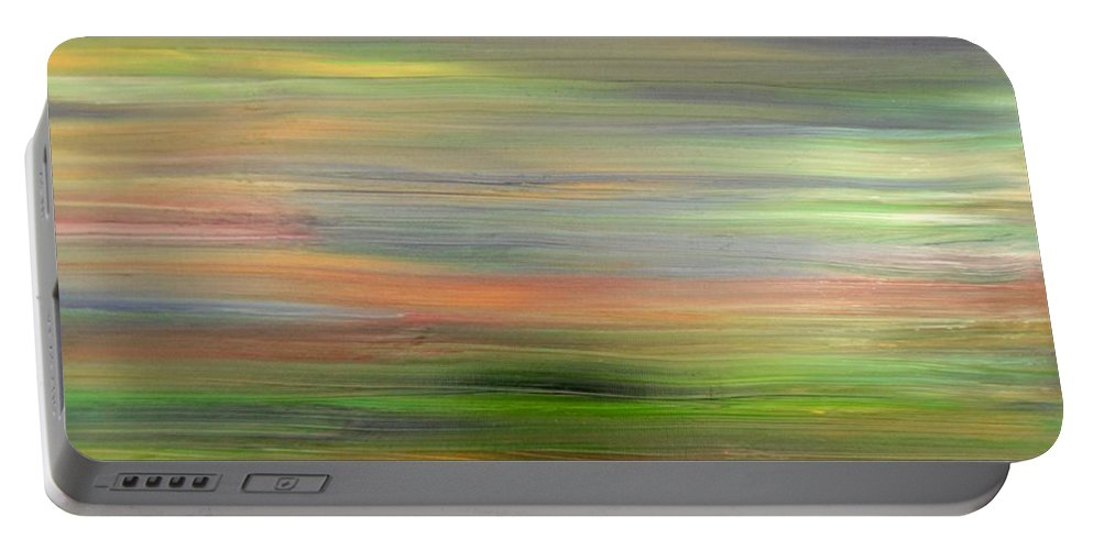 Abstract Portable Battery Charger featuring the painting Abstract 417 by Patrick J Murphy