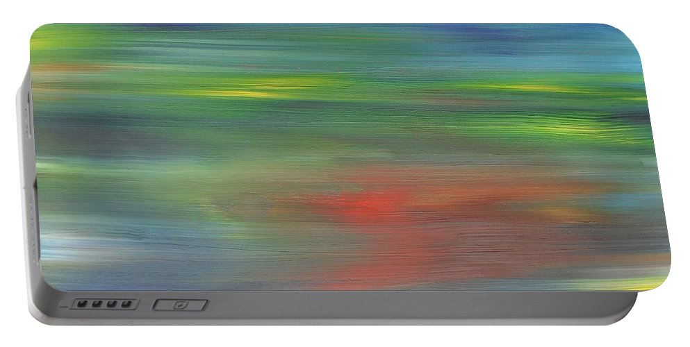Abstract Portable Battery Charger featuring the painting Abstract 421 by Patrick J Murphy