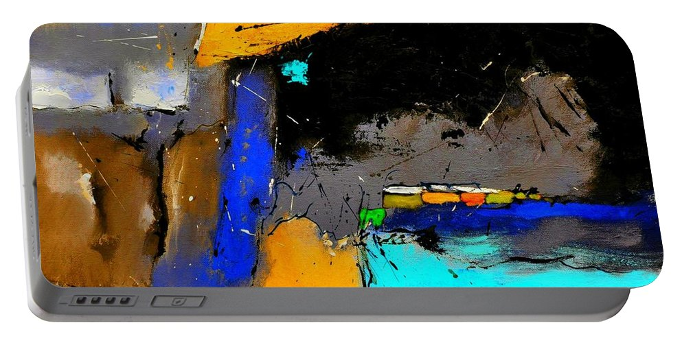 Abstract Portable Battery Charger featuring the painting Abstract 664150 by Pol Ledent