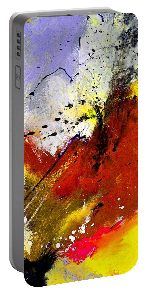 Abstract Portable Battery Charger featuring the painting Abstract 693154 by Pol Ledent
