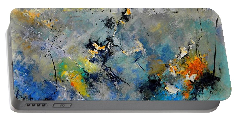 Abstract Portable Battery Charger featuring the painting Abstract 88212082 by Pol Ledent