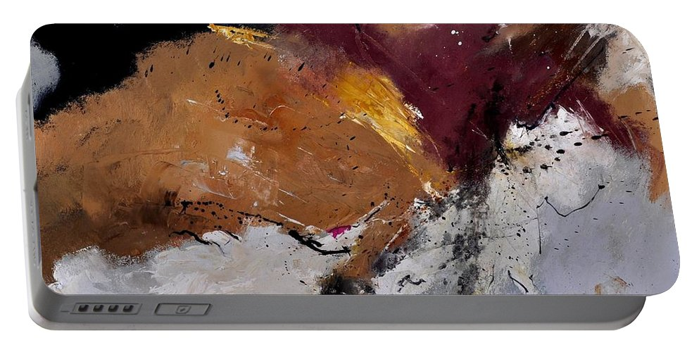 Abstract Portable Battery Charger featuring the painting Abstract 8831901 by Pol Ledent