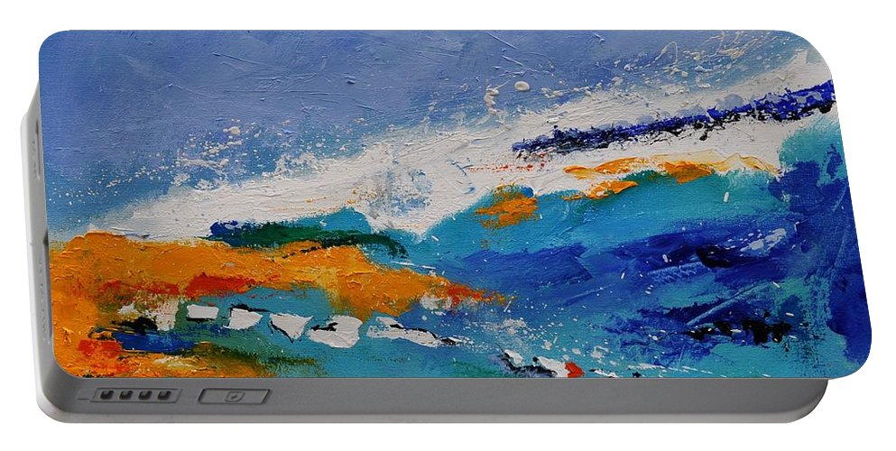 Abstract Portable Battery Charger featuring the painting Abstract 88319091 by Pol Ledent