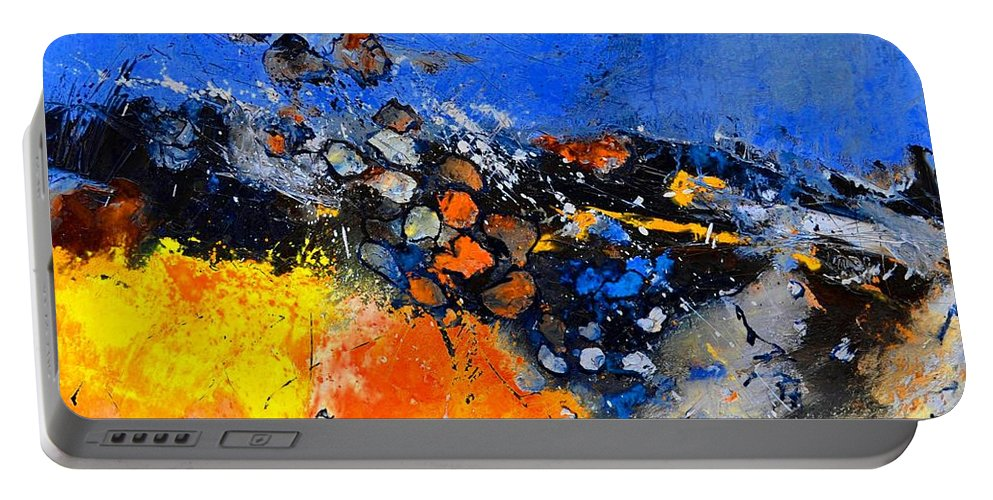 Abstract Portable Battery Charger featuring the painting Abstract 88411133 by Pol Ledent