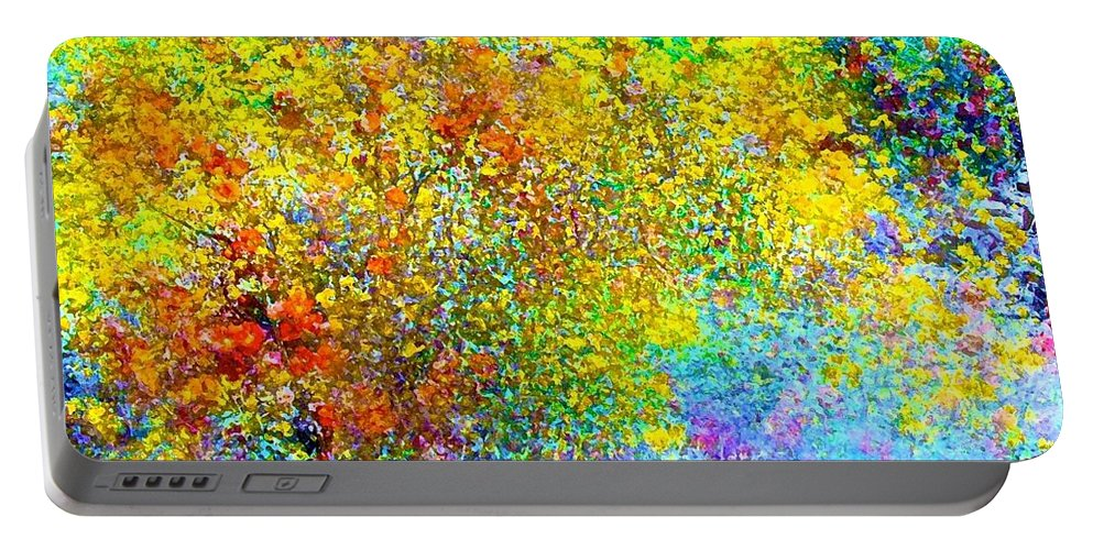 Abstract Portable Battery Charger featuring the photograph Abstract 96 by Pamela Cooper
