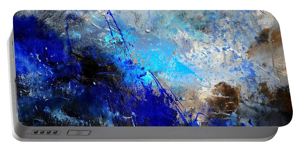Abstract Portable Battery Charger featuring the painting Abstract 964180 by Pol Ledent