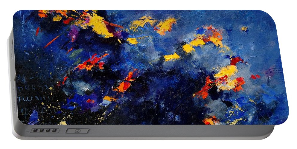 Abstract Portable Battery Charger featuring the painting Abstract 971207 by Pol Ledent