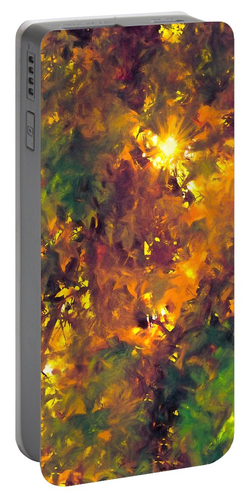 Abstract Portable Battery Charger featuring the photograph Abstract 98 by Pamela Cooper