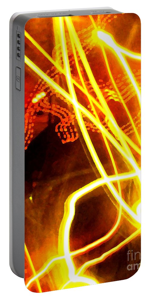 Abstract Portable Battery Charger featuring the photograph Abstract by Amanda Barcon