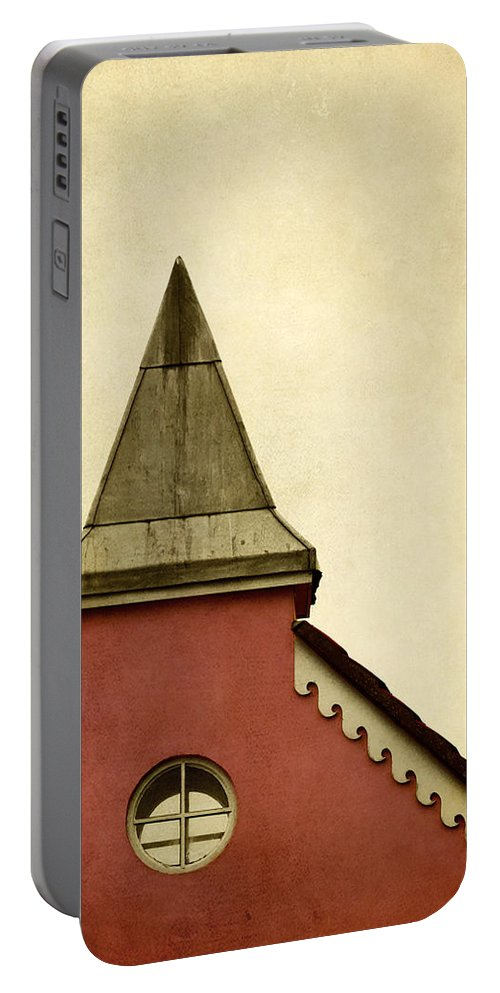 Abstract Portable Battery Charger featuring the photograph Abstract Building by Svetlana Sewell