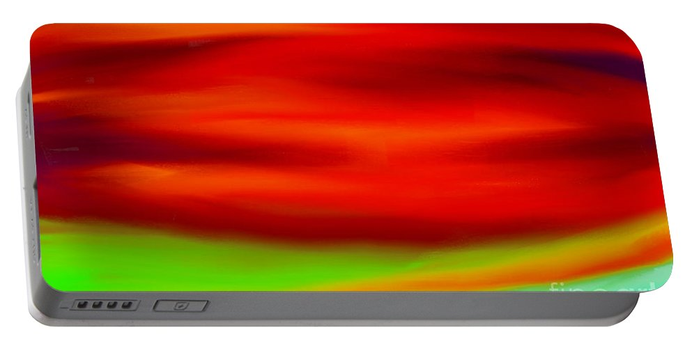 Abstract Colors Portable Battery Charger featuring the painting Abstract Colors by Anita Lewis