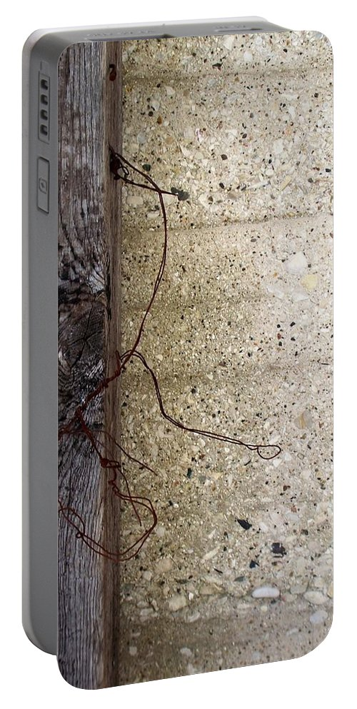 Industrial. Urban Portable Battery Charger featuring the photograph Abstract Concrete 11 by Anita Burgermeister