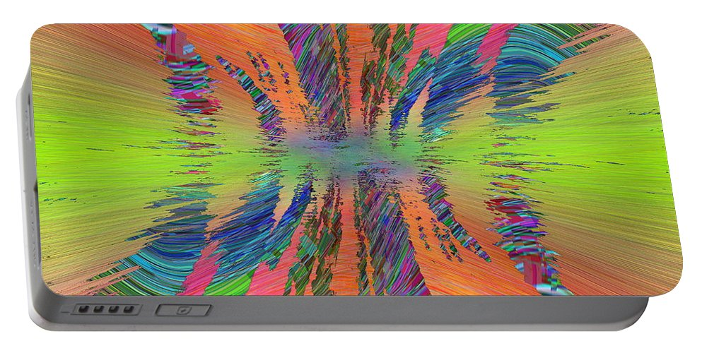 Abstract Portable Battery Charger featuring the digital art Abstract Cubed 168 by Tim Allen