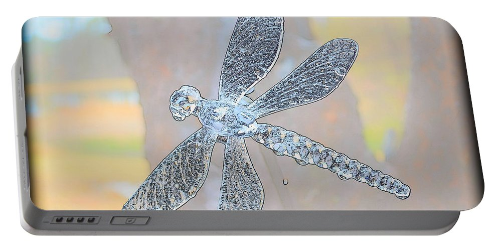 Dragonfly Portable Battery Charger featuring the photograph Abstract Dragonfly by Sherman Perry