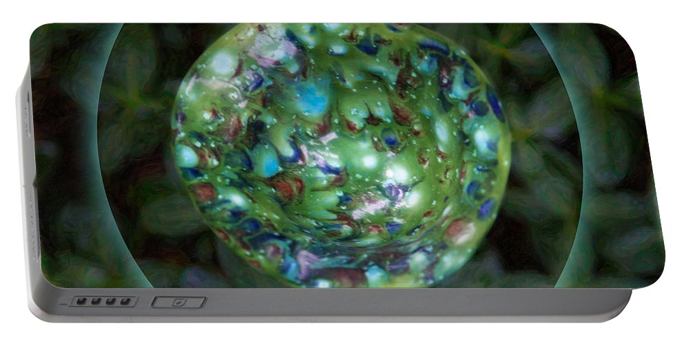 1x1 Portable Battery Charger featuring the photograph Abstract Fairy House Garden Art By Omaste Witkowski Owfotografik by Omaste Witkowski