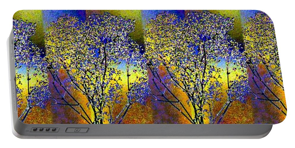 Abstract Fusion Portable Battery Charger featuring the digital art Abstract Fusion 100 by Will Borden