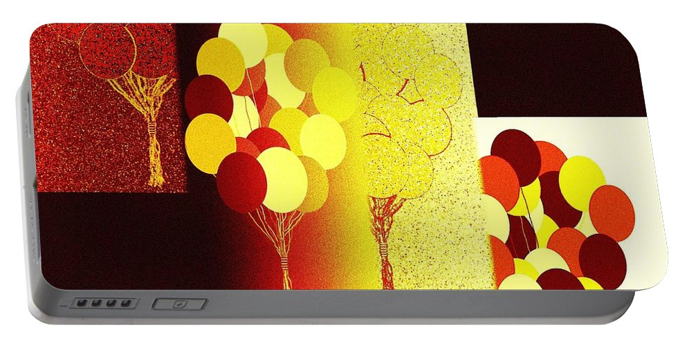 #abstractfusion192 Portable Battery Charger featuring the digital art Abstract Fusion 192 by Will Borden