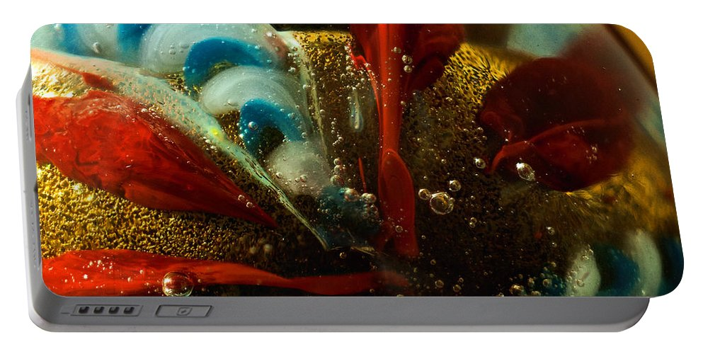 Gold Portable Battery Charger featuring the photograph Abstract Glass by Jess Kraft