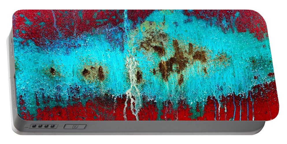 Abstract Portable Battery Charger featuring the photograph Abstract In Red 6 by Lauren Leigh Hunter Fine Art Photography