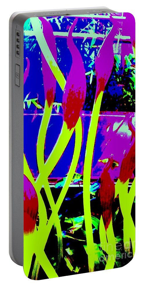 Abstract Portable Battery Charger featuring the photograph Abstract Lavender by Eric Schiabor