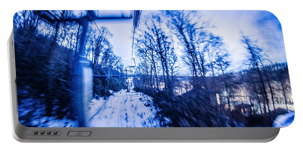 Sugar Portable Battery Charger featuring the photograph Abstract On A Ski Lift by Alex Grichenko