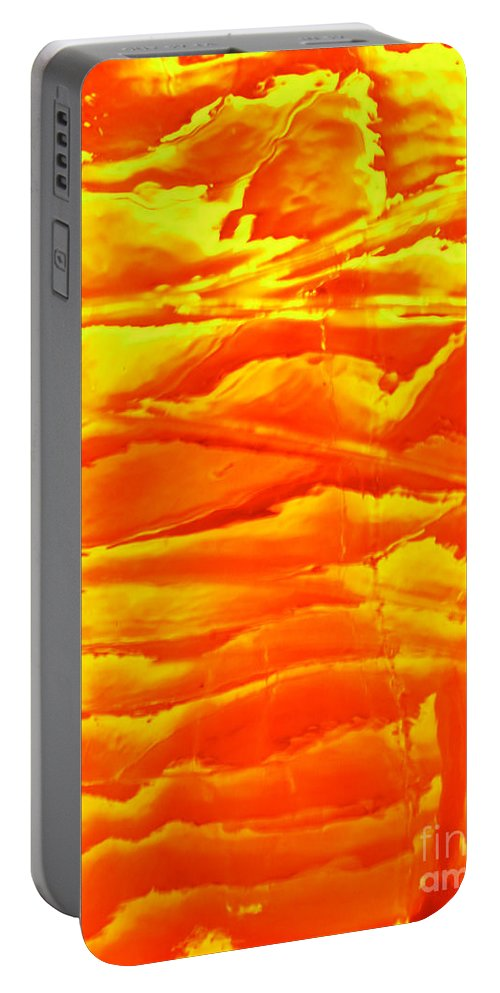 Orange Portable Battery Charger featuring the photograph Abstract Orange by Amanda Barcon